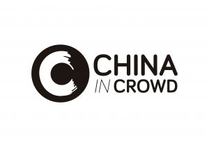 Logo China in crowd